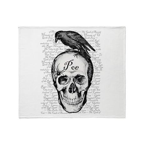Raven Poe Throw Blanket