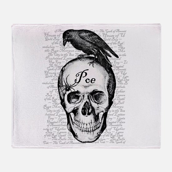 Raven Poe Throw Blanket