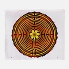 Chartres Labyrinth Fire Throw Blanket