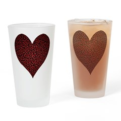 Heart is a Maze Drinking Glass