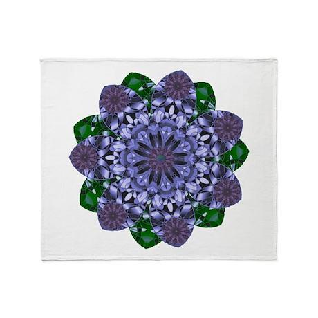 Lotus Star Throw Blanket