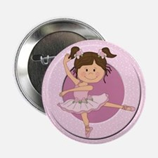 "Cute Ballerina Ballet Gifts 2.25"" Button (10 pack)"