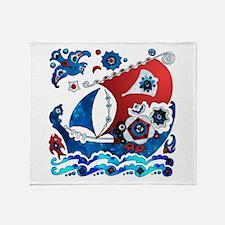 Danish Seas Throw Blanket