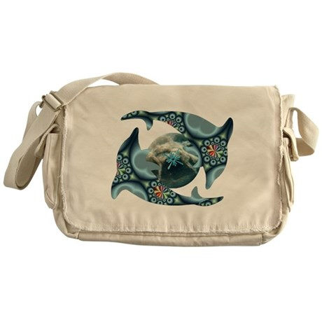 Dolphins at Dione Messenger Bag