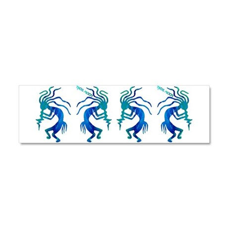 Taos Moon Kokopelli Car Magnet 10 x 3