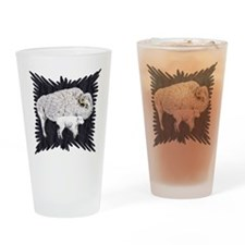 White Buffalo Drinking Glass
