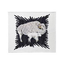White Buffalo Throw Blanket