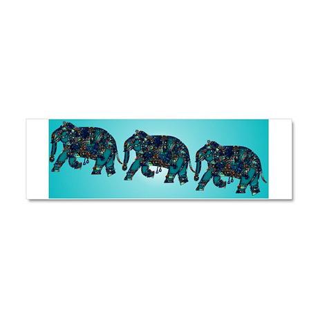 Onyx Elephant Car Magnet 10 x 3