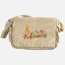 Colorful musical notes Messenger Bag