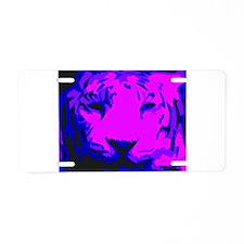 Tiger Face Aluminum License Plate