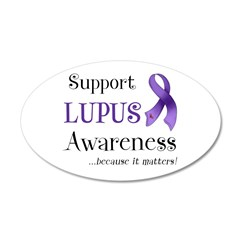 Support Lupus Awareness 22x14 Oval Wall Peel
