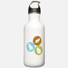 3 House Cats Water Bottle