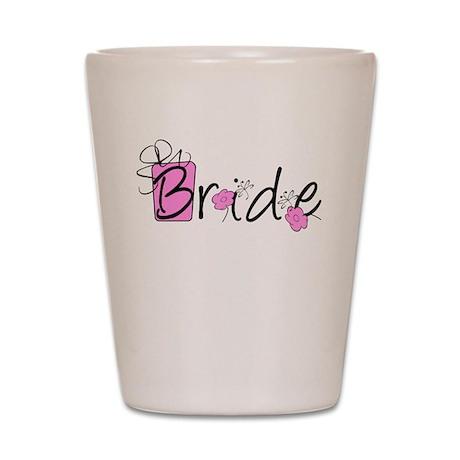 Pink Lady Bride Shot Glass