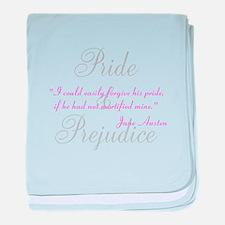 Jane Austen Pride Quotes Hous baby blanket