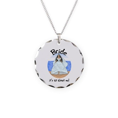 It's All About Me Bride Necklace Circle Charm