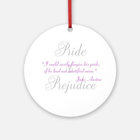Jane Austen Pride Quotes Pape Ornament (Round)