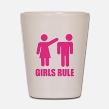 Girls Rule Shot Glass