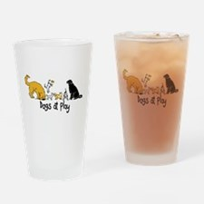 Dogs at Play Drinking Glass