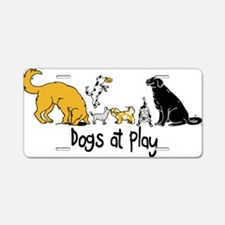 Dogs at Play Aluminum License Plate