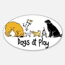 Dogs at Play Decal