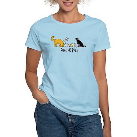 Dogs at Play Women's Light T-Shirt