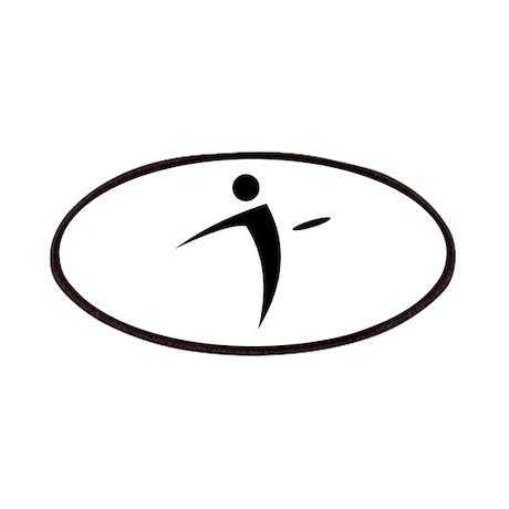 Nano Disc Golf BLACK Logo Patches