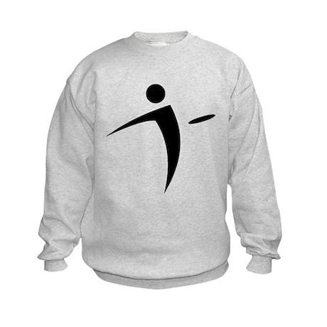 Nano Disc Golf BLACK Logo Kids Sweatshirt