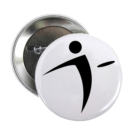 "Nano Disc Golf BLACK Logo 2.25"" Button"