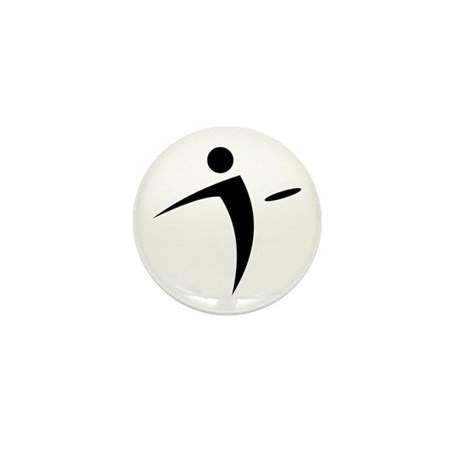 Nano Disc Golf BLACK Logo Mini Button
