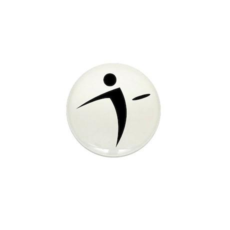 Nano Disc Golf BLACK Logo Mini Button