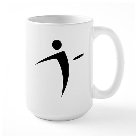 Nano Disc Golf BLACK Logo Large Mug
