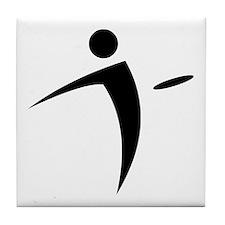 Nano Disc Golf BLACK Logo Tile Coaster