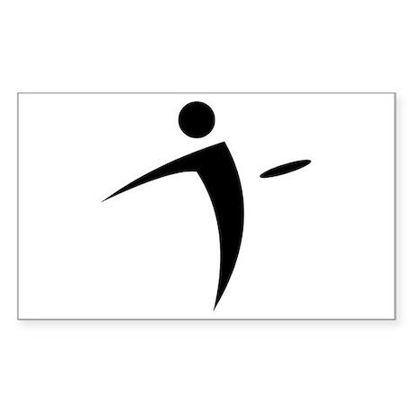 Nano Disc Golf BLACK Logo Sticker (Rectangle)