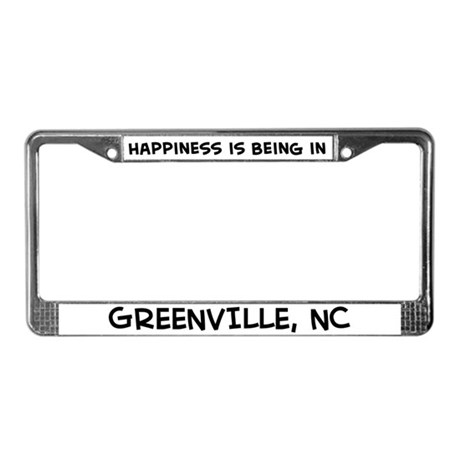 Happiness is Greenville License Plate Frame