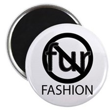 No Fur Fashion Magnet