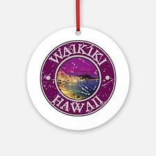 Waikiki, Hawaii Ornament (Round)