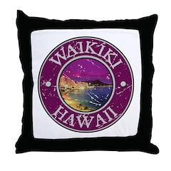 Waikiki, Hawaii Throw Pillow