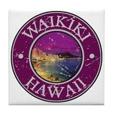 Waikiki, Hawaii Tile Coaster