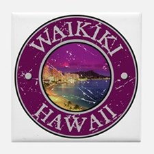 Waikiki, Hawaii Tile Coaster
