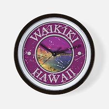 Waikiki, Hawaii Wall Clock