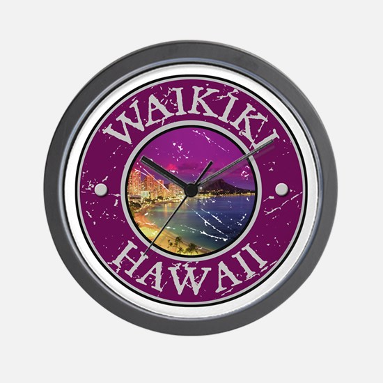 Waikiki, Hawaii Wall Clock