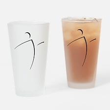 Nano Disc Golf SHADOW Logo Drinking Glass