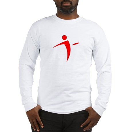 Nano Disc Golf RED Logo Long Sleeve T-Shirt