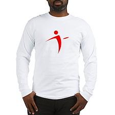 Nano Disc Golf RED Logo Long Sleeve T-Shirt