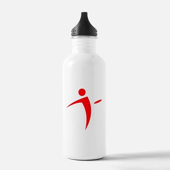 Nano Disc Golf RED Logo Water Bottle