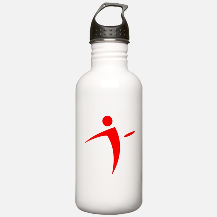 Nano Disc Golf RED Logo Water Bottle