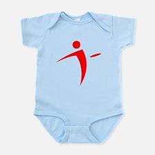Nano Disc Golf RED Logo Infant Bodysuit