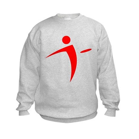 Nano Disc Golf RED Logo Kids Sweatshirt