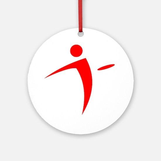 Nano Disc Golf RED Logo Ornament (Round)
