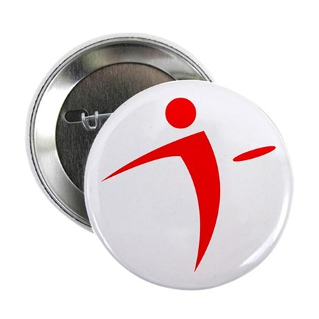 "Nano Disc Golf RED Logo 2.25"" Button"
